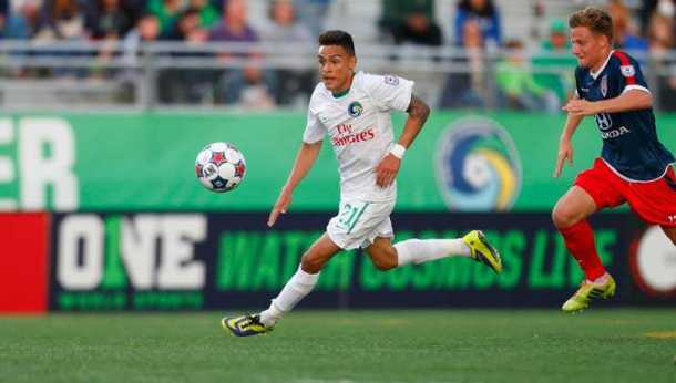 David Diosa has seen lots of playing time for the Cosmos in 2014 - Photo Credit - NY Cosmos