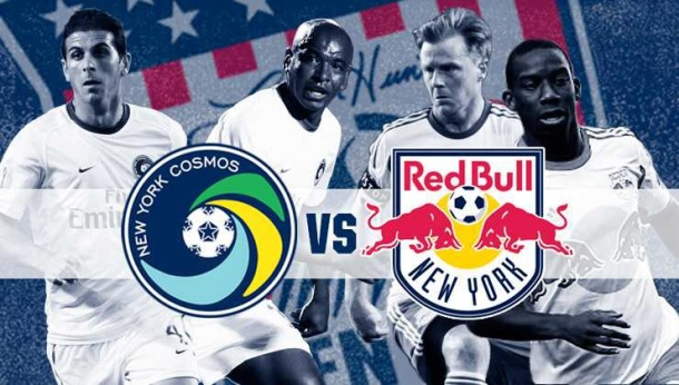 NY Cosmos vs Red Bulls was historic for NY Soccer. Photo credit - nycosmos.com