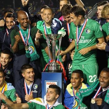 Cosmos fans remember this moment- the 2013 NASL championship.