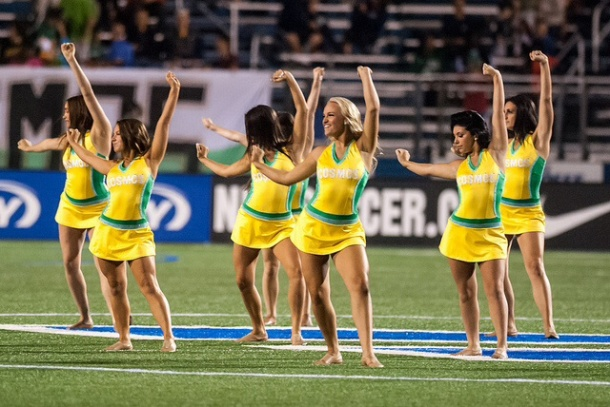 Cosmos Girls Dance Routine Will Be Part Of Halftime! Photo credit - NYcosmos.com