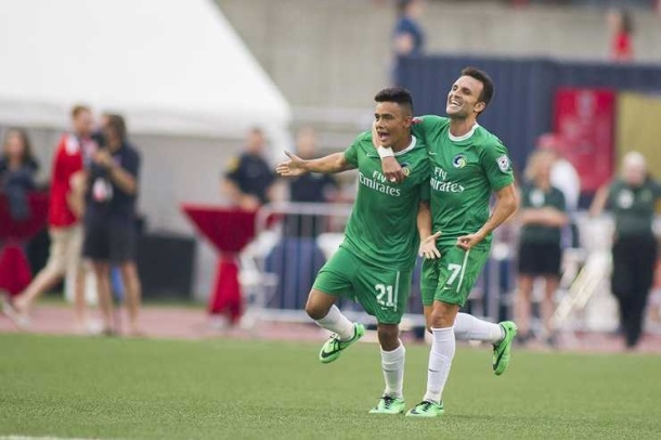 David Diosa scored his first goal as a member of the NY Cosmos, but it wasn't enough for the win. Photo credit - NY Cosmos