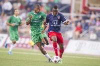 The Cosmos and Indy Eleven battled to a 2-2 draw on Saturday night. Photo credit - NY Cosmos
