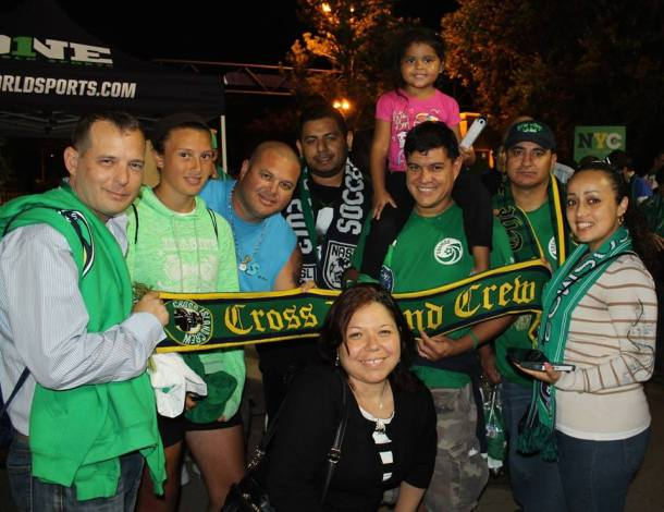 Long Island's Cross Island Crew Members waiting to meet and greet the Cosmos Photo Credit - Cesar Diaz