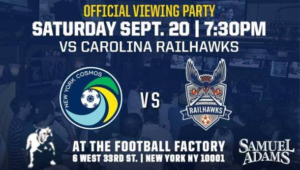 There will be a viewing party in Manhattan At Legends! Photo Credit - New York Cosmos
