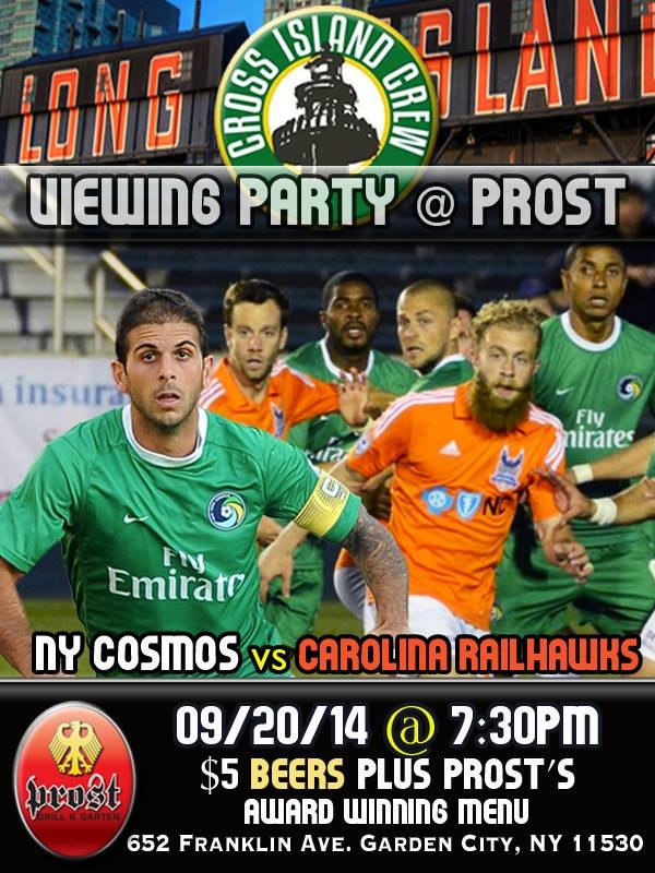 Long Island Will Have It's Viewing Party At Prost! Photo Credit - Adolfo Flores