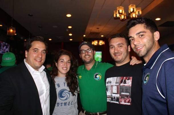 Members of the Cosmos front office with Rafael Morffi (far left). Photo Credit - Eytan Calderon