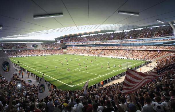 Rendition of Proposed Cosmos Stadium. Photo Credit - NY Cosmos Website