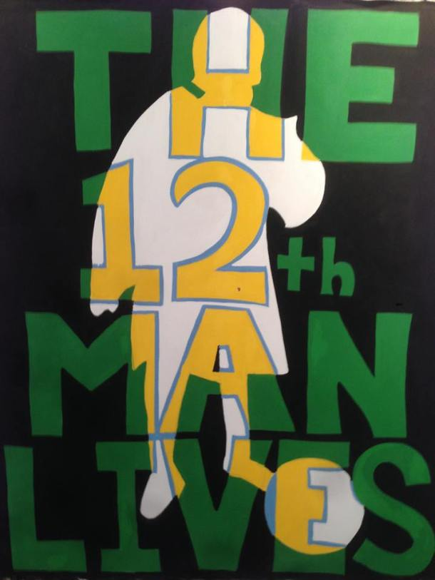 Banner that hangs in the 5 Points Section of Cosmos Home Matches - Created By 5 Points Member Tim Pickerill