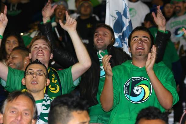 Hagop Chirishian's goal in the 93rd minute sent the Cosmos Supporters into a frenzy! Photo Credit - Eytan Calderon