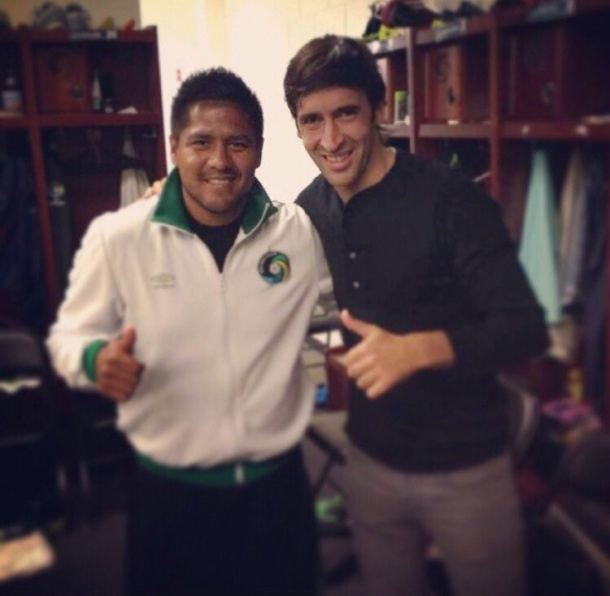 Raul with Cosmos Equipment manager Hector Perez