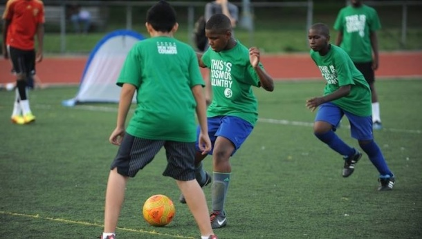 Cosmos continue their presence in the community with another FREE youth clinic this Sunday in Queens. Photo credit - Sean Mccafrey