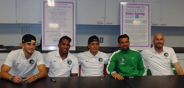 New York Cosmos Players Will Be a on hand To Sign Autographs For Fans. Photo credit - Sean Mccafrey