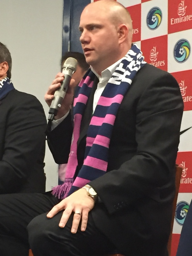 Cosmos COO Erik Stover Participated In A Q&A With Season Ticker Holders. Photo Credit - Cesar Trelles
