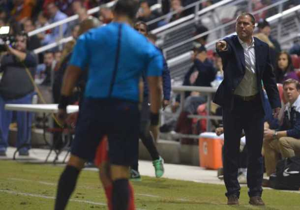Head Coach Giovanni Savarese Trying To Make His Case To The Referee On Saturday. Photo Credit - NY Cosmos