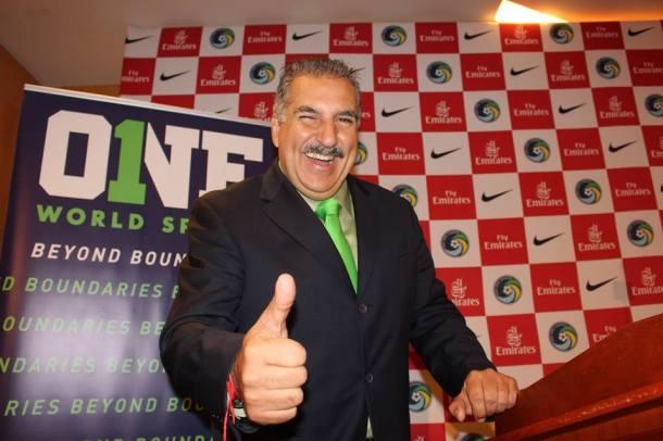 Univision's Fernando Fiore served as the event's moderator.  Photo credit - Eytan Calderon