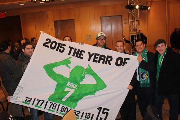 Members Of The 5 Points With Their Banner. Photo Credit - Eytan Calderon