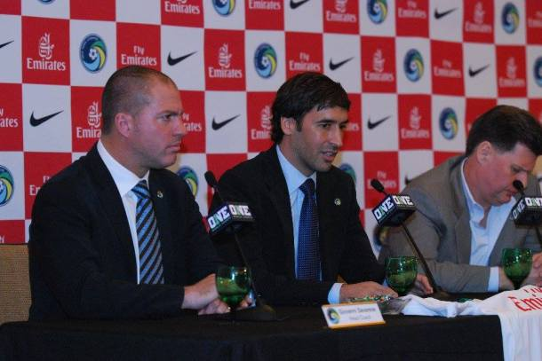 Giovanni Savarese, Raul and Seamus Obrien field questions from the media. Photo Credit - Cross Island Crew Contributor