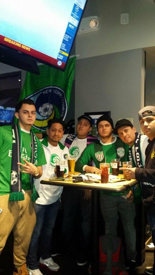 Members of La Banda Del Cosmos at the Champions League viewing of Real Madrid. Photo Credit - Dubby Diaz