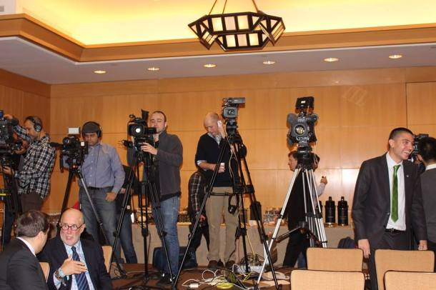 A Strong Global Media Presence Was On Hand For The Event. Photo Credit - Eytan Calderon