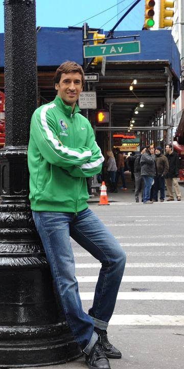 Raul poses in New York City last week ahead of his unveiling on Tuesday! Photo Credit - NY Cosmos