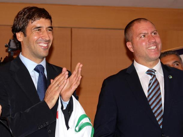 Raul & Gio All Smiles After The Press Conference. Photo Credit - Eytan Calderon