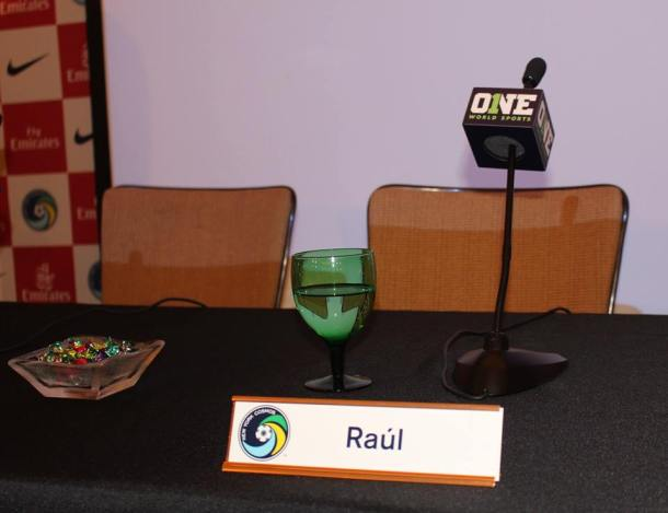 Raul's empty seat awaits for him on stage. Photo Credit - Eytan Calderon